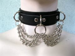 Choker 4C Leather and Chain Choker