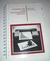 HP 7475A Graphics Plotter Interfacing and Programming Manual