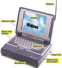 Itronix XC X-C 6250 Ruggedized Laptop w/ AC/DC Power Adapter Windows 98