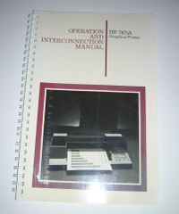 HP 7475A Graphics Plotter Operation and Interconnection Manual