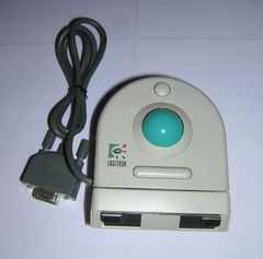 Vintage Logitech Trackman Serial Mechanical Rollerrball 2-Button Mouse