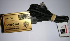 Psion Dacom 56K PCMCIA Gold PC Card Modem with Cable