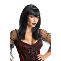 Glitter Vamp Wig - Black Item# 52650