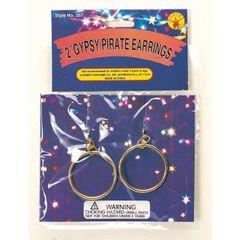 Pirate / Gypsy 2in. Clip - On Earrings Item# 357 (r)