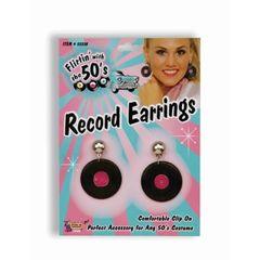RECORD EARRINGS- Item #55510 (F)