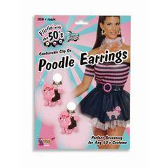 PINK POODLE EARRINGS- Item #62236 (F)