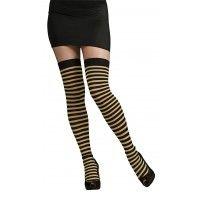 Black &Gold Metallic Thigh Highs Item# 9029 (R)