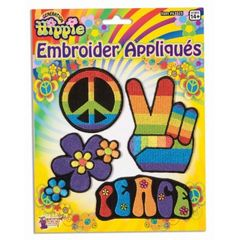 HIPPIE APPLIQUES (4/PACKAGE) - Item #63925 (F)