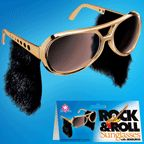 Rock And Roll Sunglasses With Sideburns