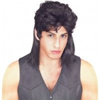 Mullet Wig - Black - Item# 51166 (R)10.98