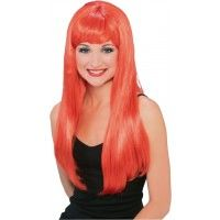 Long Glamour Red Wig Item# 50900 (R)