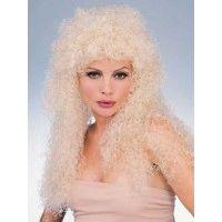 Long Blonde Curly Wig Item# 50745