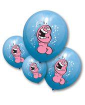 Bachelorette Pecker Balloons - Pack of 6 (blue)