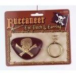 BUCCANEER EYE PATCH & EARRING SET SEE-THRU EYE PATCH - Item #61615 (F)