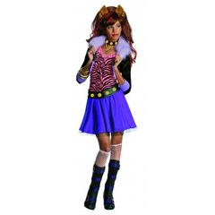 Dress Kids Clawdeen Wolf Costume Item# 884788(R)
