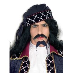 DLX PIRATE BEARD & MOUSTACHE - Item #58280 (F)