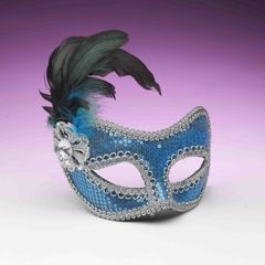 SEQUIN FASHION MASK-TURQUOISE - #68490(F)