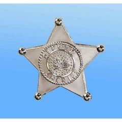 SHERIFF BADGE JUMBO SILVER- Item #59116 (F)
