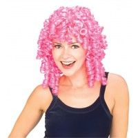 Curly Top Wig Pink Item# 50969 (R)