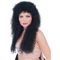 Long Black Curly Wig Item# 50744