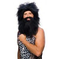 Black Pre - Historic Beard & Wig Set Item# 50822 (R)