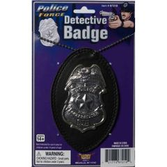 DLX DETECTIVE BADGE ON CHAIN - Item #67219 (F)