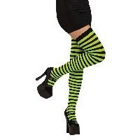 Black / Green Striped Thigh Highs Item# 8545 (R)