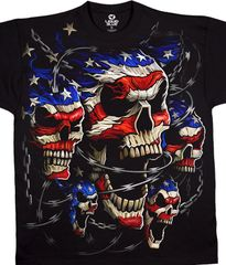 Red, White and Blue Skulls 2X