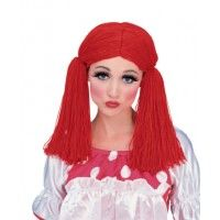 Rag Doll Girl Wig - Red Item# 50825)(R)