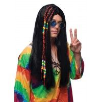 Brown Long Hippie Wig Item# 50818 (R)