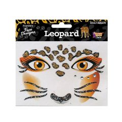 FACE DESIGNS-LEOPARD - Item #74478