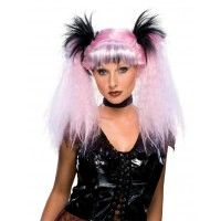 Futuristic Witch Pink Wig Item# 51690