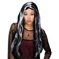 24 Inch Grey Streaked Wig Item# 50703(R)