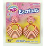 ORANGE SWIRL MOD EARRINGS - Item #62265 (F)