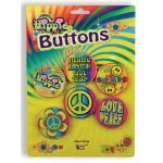 HIPPIE BUTTON SET-5 ASSORTED - Item #62165 (F)