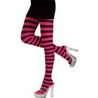 Pink / Black Striped Tights Item# 6835 (R)