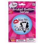 BRIDAL- GROOM BUTTON - Item #56316 (f)
