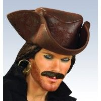 Caribbean Pirate Hat - Brwn Item# 49450 (R)