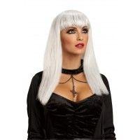 Glitter Vamp Wig - White Item# 52667