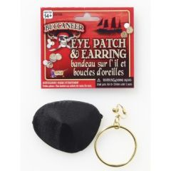PIRATE EARRING & EYEPATCH SET - Item #25700 (F)
