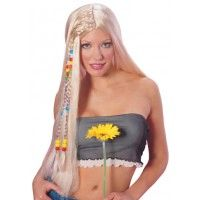 Long Blonde Hippie Wig Item# 50816 (R)