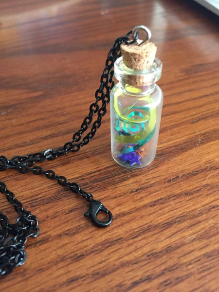 Spiral Starry Cork Necklace