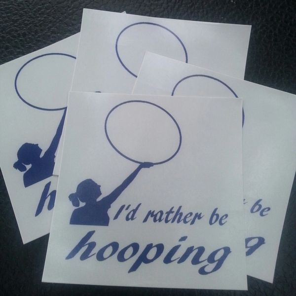 I'd rather be hooping Sticker