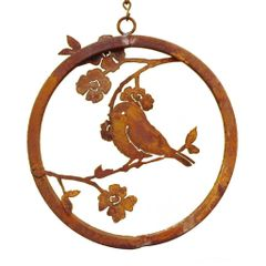 R211 Chickadee on a Dogwood Branch Ring