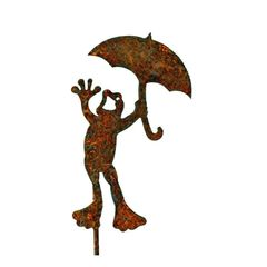 P404 Frog with Umbrella Pick
