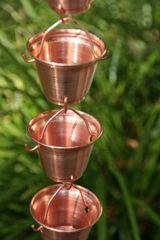 3137 Shizuka Cups Copper Rain Chain, 8.5 Feet
