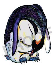 Penguin Watercolor Print