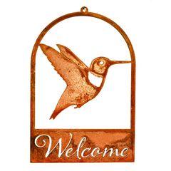 WE604 Hummingbird Roundtop Welcome