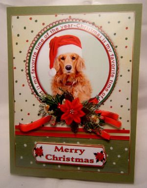 Handmade greeting card a golden retriever christmas item handmade greeting card a golden retriever christmas item xmas098 m4hsunfo
