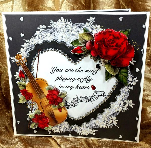 Song in my heart valentinemulti occasion gift set handmade handmade greeting card song in my heart valentinemulti occasion gift set item vald013 m4hsunfo